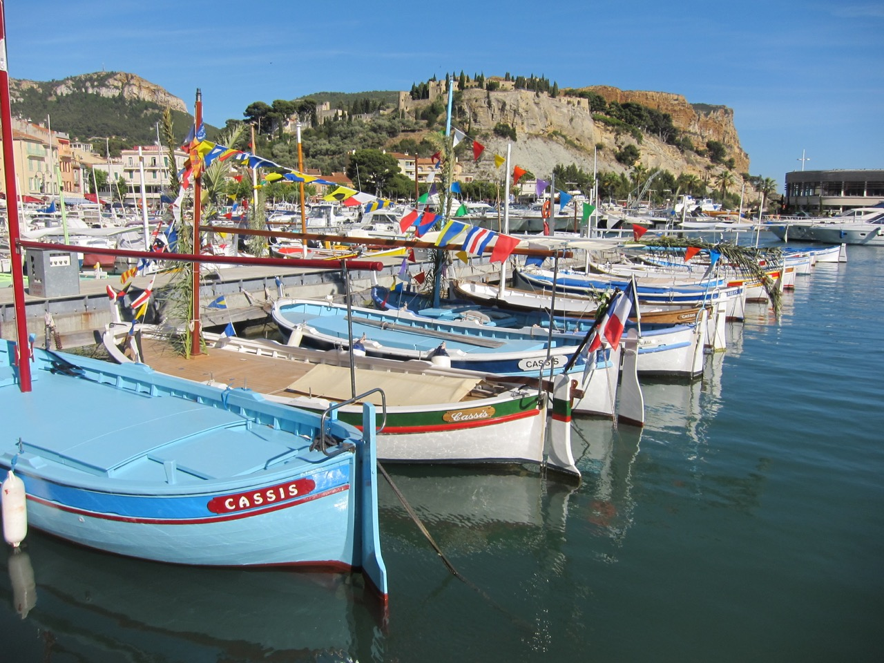Photo of boats in Cassis harbor